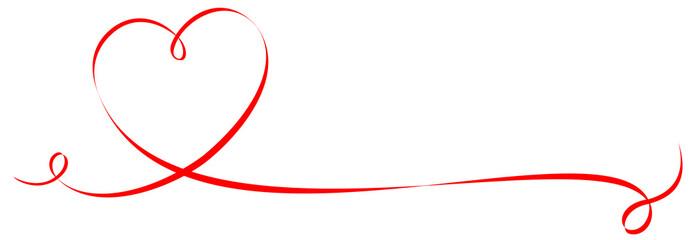 Geschwungenes Band Herzform mit Textfreiraum