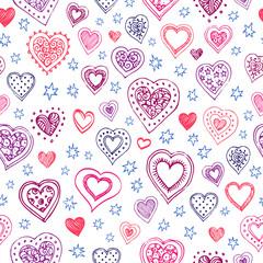 Valentine s day vector pattern.