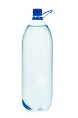 Plastic bottle with water