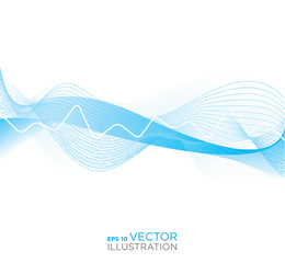 Abstract heart rhythm medical background. Vector illustration