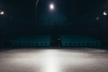 Photo sur Plexiglas Opera, Theatre empty theater stage