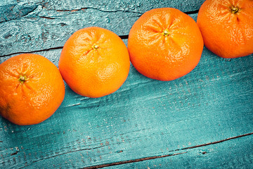 Fresh tangerines. Healthy food and diet concept