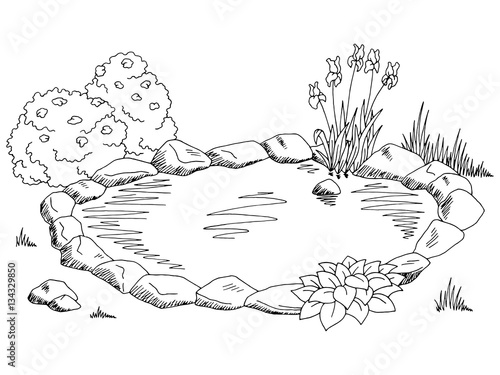 lake scene coloring pages - photo#31