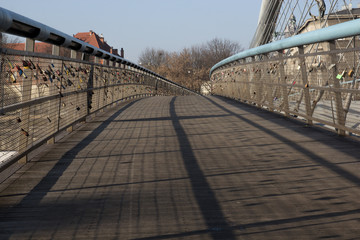 An empty pedestrian bridge
