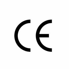 CE mark symbol isolated on white background