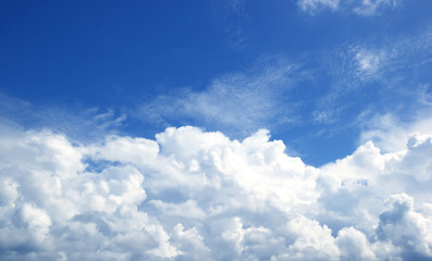 Sky white clouds background