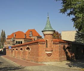 Old street in Tarnow. Poland