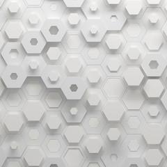 Parametric hexagonal pattern, 3d illustration