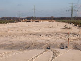 Fotobehang Route 66 Baustelle -neue Autobahn