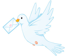 peace dove and love letter