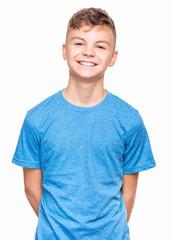 Emotional portrait of teen boy