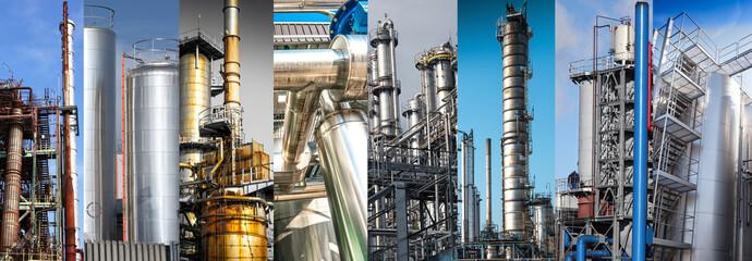 torri industriali collage
