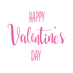 Happy Valentine's Day February 14 vector card romantic heart