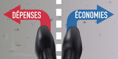 dépenses - économies - homme - choix - chaussure