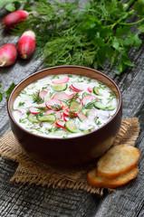 Summer yoghurt cold soup