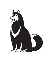Funny dog. Vector isolated.