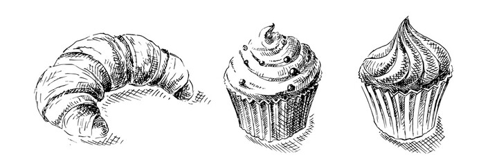 illustration of sweets in graphic style