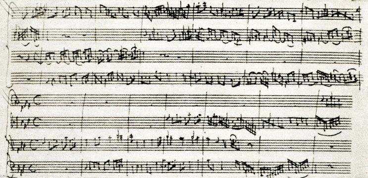 "Four-part invention from Bach's ""Wohltemperierte Klavier"" (II, 2) in Mozart's ""Set for string quartet"""