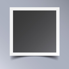 Photo frame isolated on grey background. For your photography and picture. Vector illustration