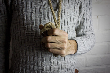 thoughts of suicide with rope