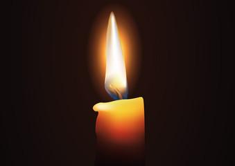 Bougie - Flamme - méditation - lumière