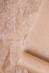 baking paper texture for background, selective focus