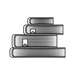 text book pile isolated icon vector illustration design