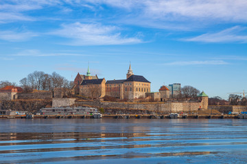 Waterfront of Akershus fortress, Oslo, Norway
