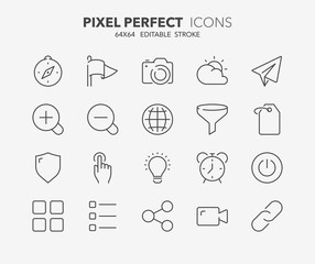 user interface thin line icons 3
