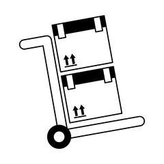 cart box packing icon vector illustration design
