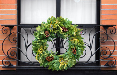 Festive Winter Holiday Wreath