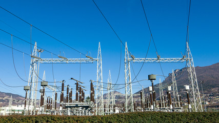 Infrastructure of electrical electrical substation distributing renewable energy