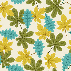 Autumn/fall leaves seamless pattern