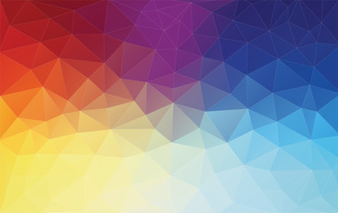 Vertical Abstract 2D geometric colorful background