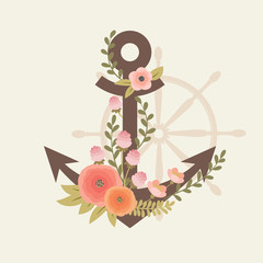 Floral vector anchor.