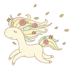 Happy unicorn running