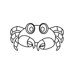 Sea crab animal icon vector illustration graphic design