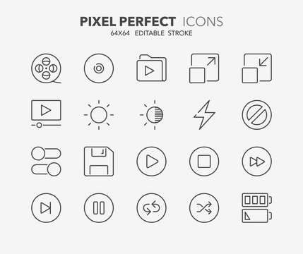 user interface thin line icons 4