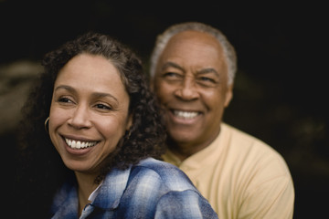 Mature couple smiling together