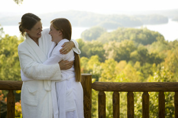 A mother and daughter at a health spa