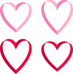 pink red valentine hearts