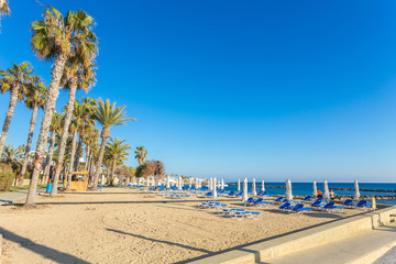 sunny day in the resort of Paphos, Cyprus