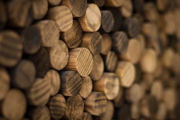 Round wood mosaic