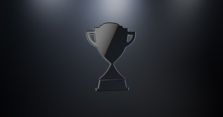 Winner Trophy Black 3d Icon