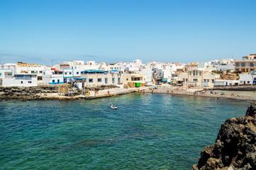 fishing village of el cotillo at fuerteventura canary island, spain