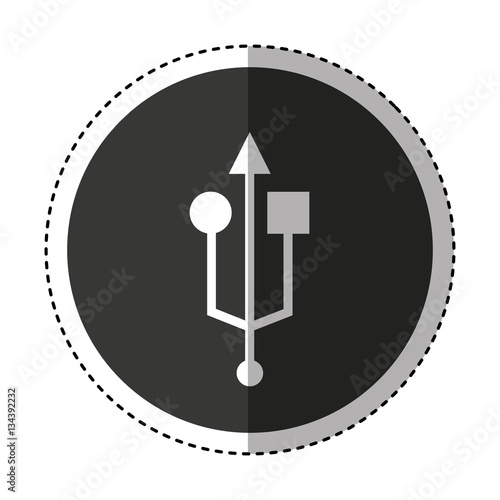 quotusb symbol isolated icon vector illustration design