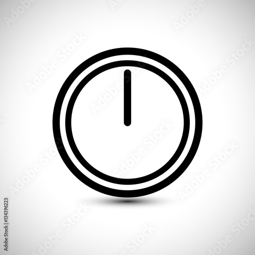 Timer Clock Icon  Stopwatch Vector Illustration  Time