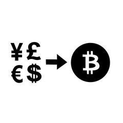 Bitcoin, dollar, euro, yen,