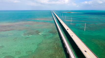 Florida Keys Bridge, aerial view