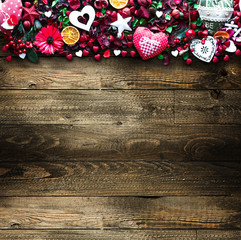 Valentine's Day Background with love themed elements